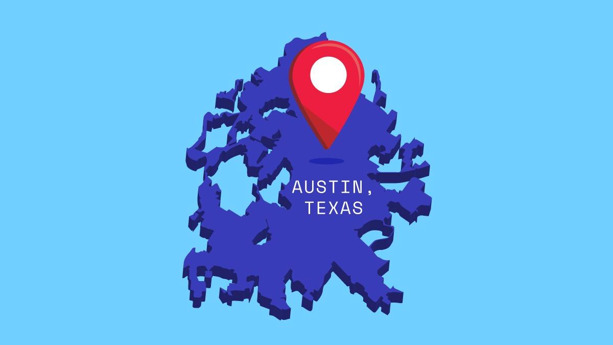illustration of austin texas map