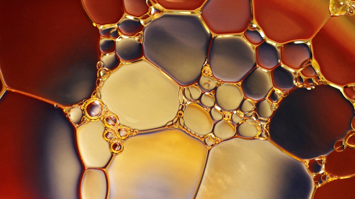 close up image of cbd oil tincture bubbles