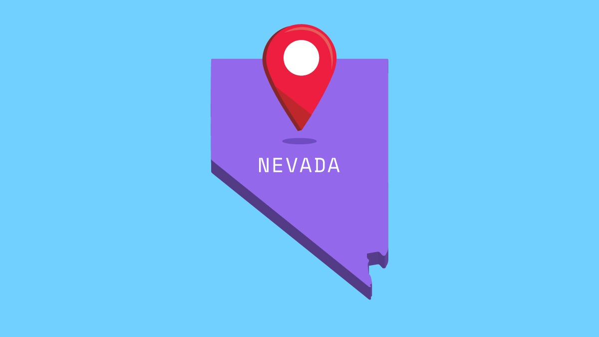 illustration of nevada map