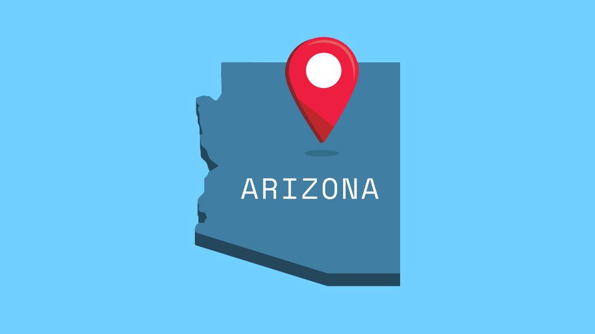 illustration of Arizona map