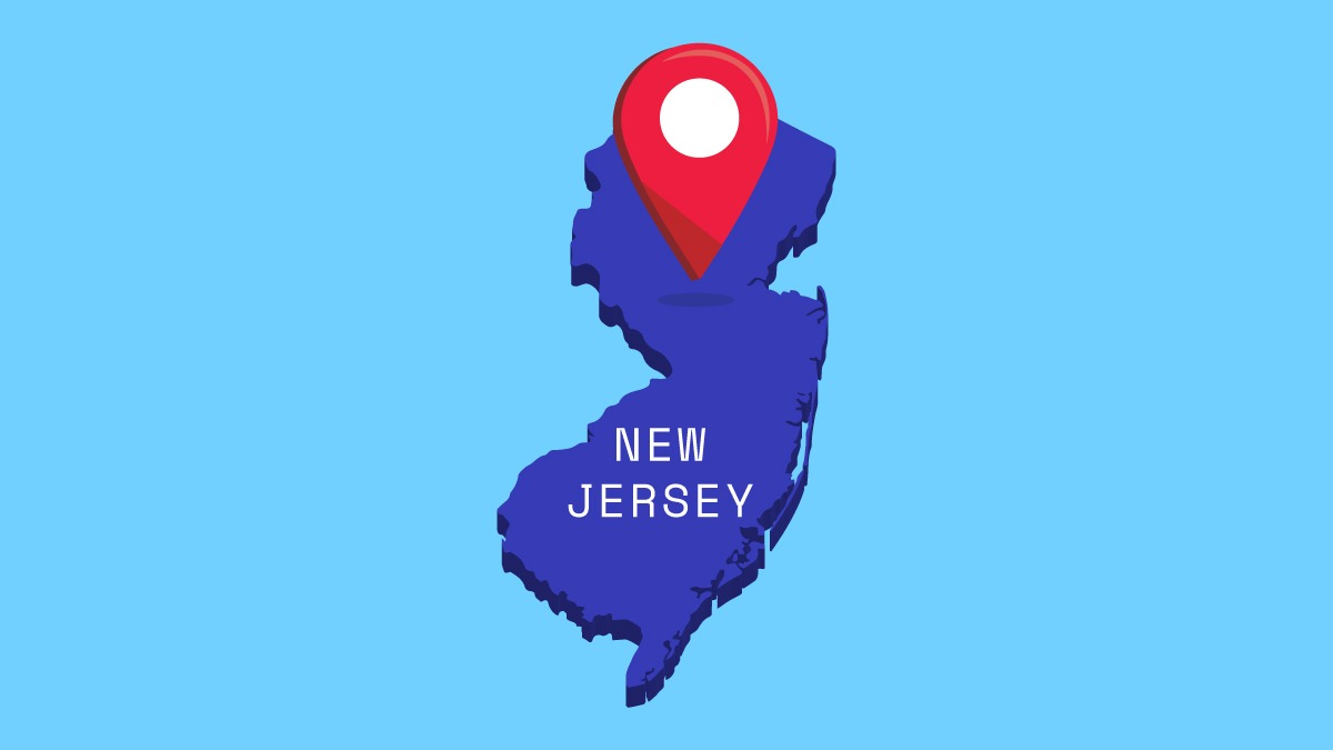illustration of New Jersey map
