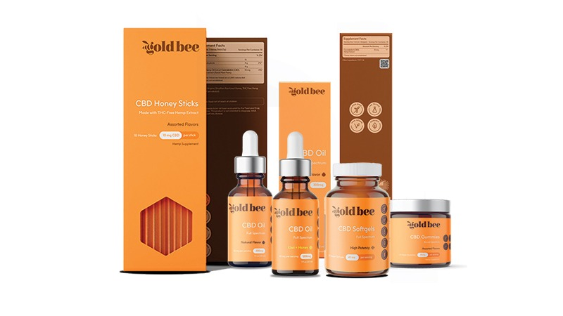 goldbee products on white background