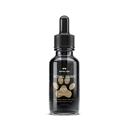 Royal CBD 500mg pet oil on white background