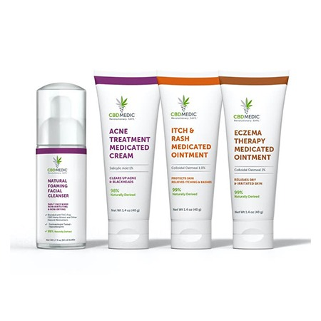 Charlottes Web CBD Topical Products on white background