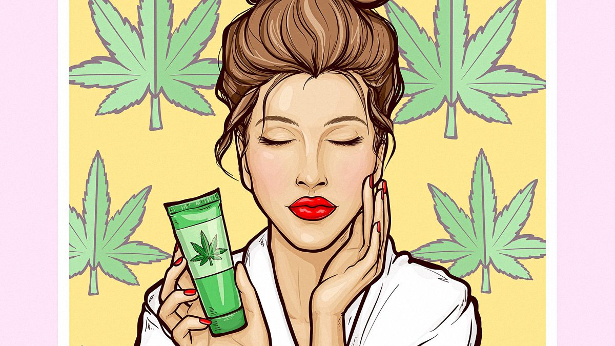 Woman holding CBD Topical for Acne