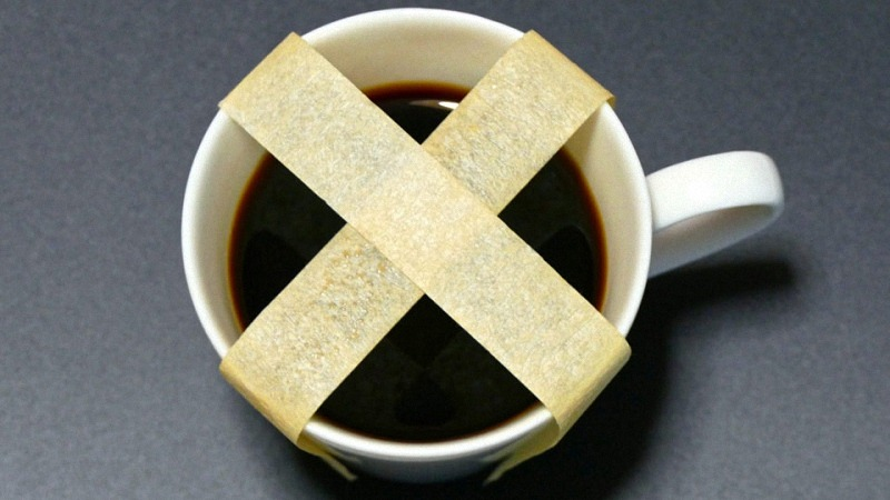 Cup of Coffee with Tape