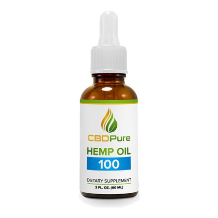 CBDPure CBD Oil in a white background