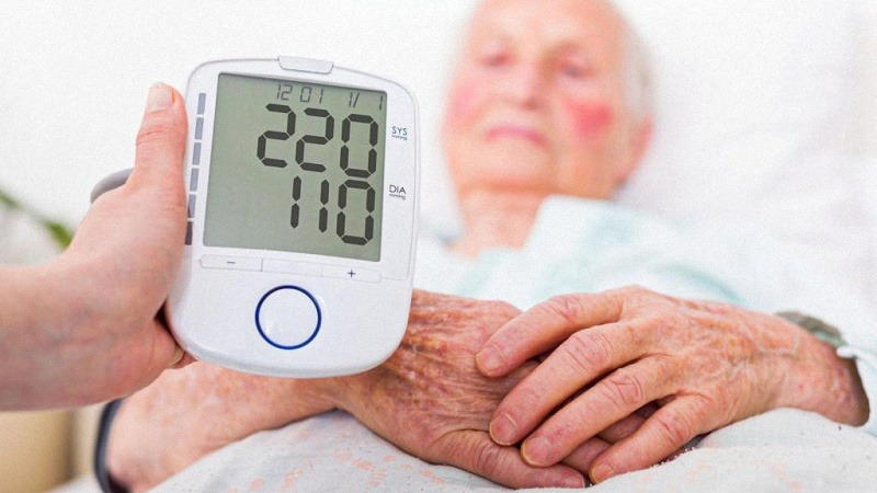 Blood Pressure Reading of Patient