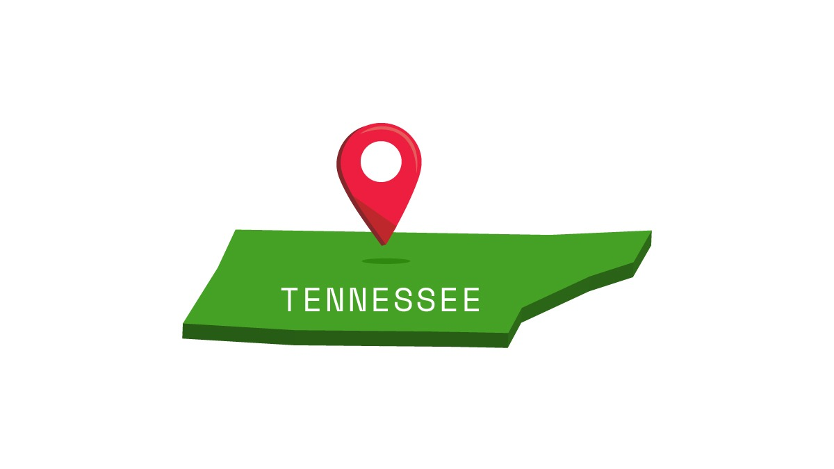 Illustration of Tennessee map