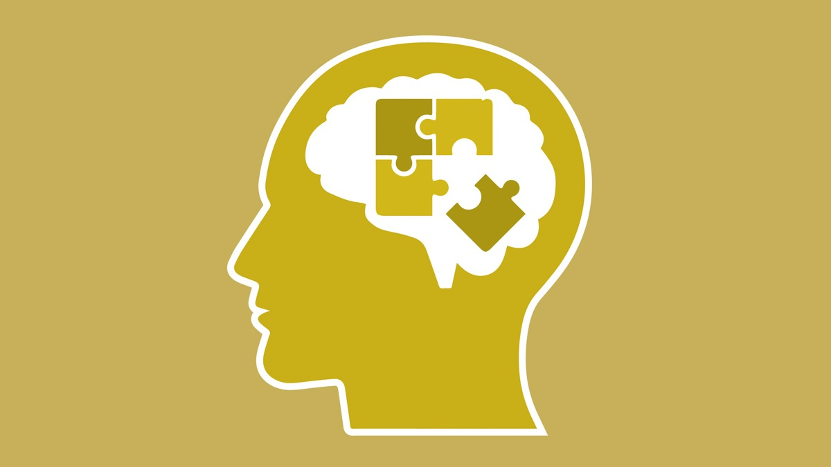 Illustration of the Brain for ADHD in Yellow Background
