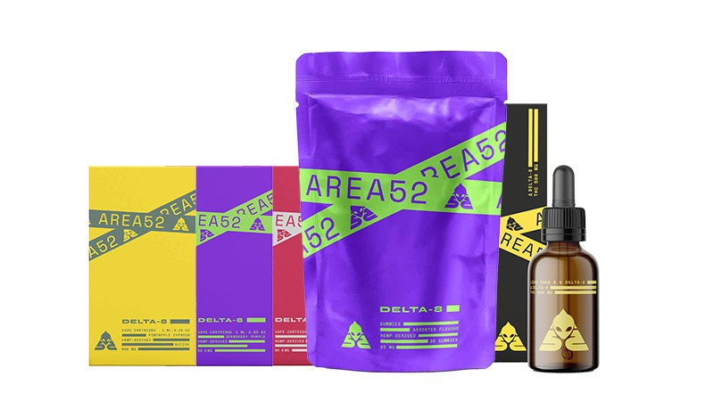 Delta 8 THC Products by Area 52