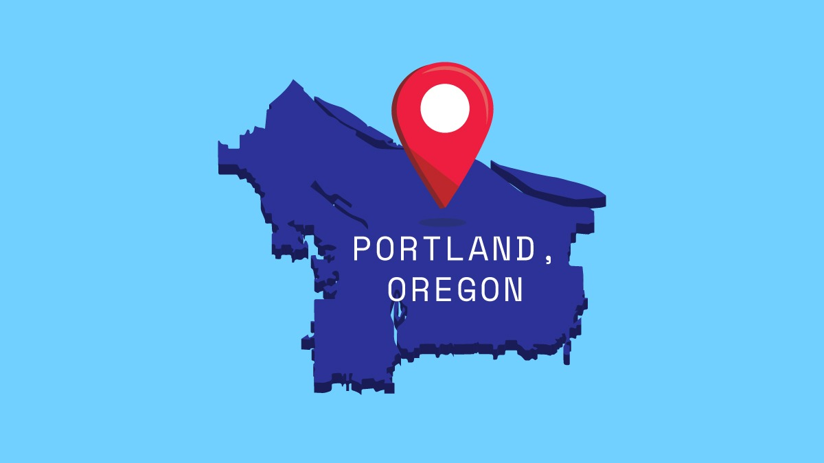 illustration of Portland map