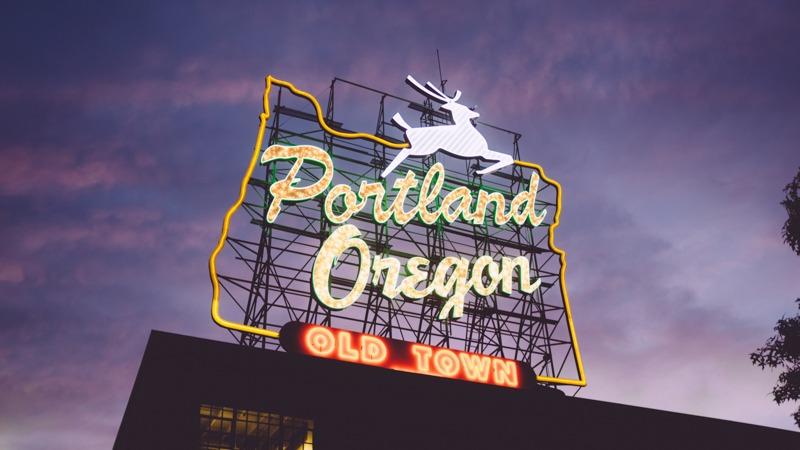 Portland Oregon supermarket sign