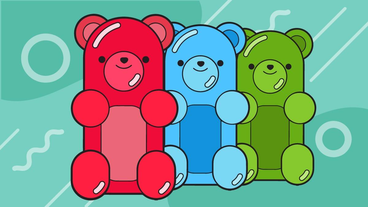 Illustration of gummies bear