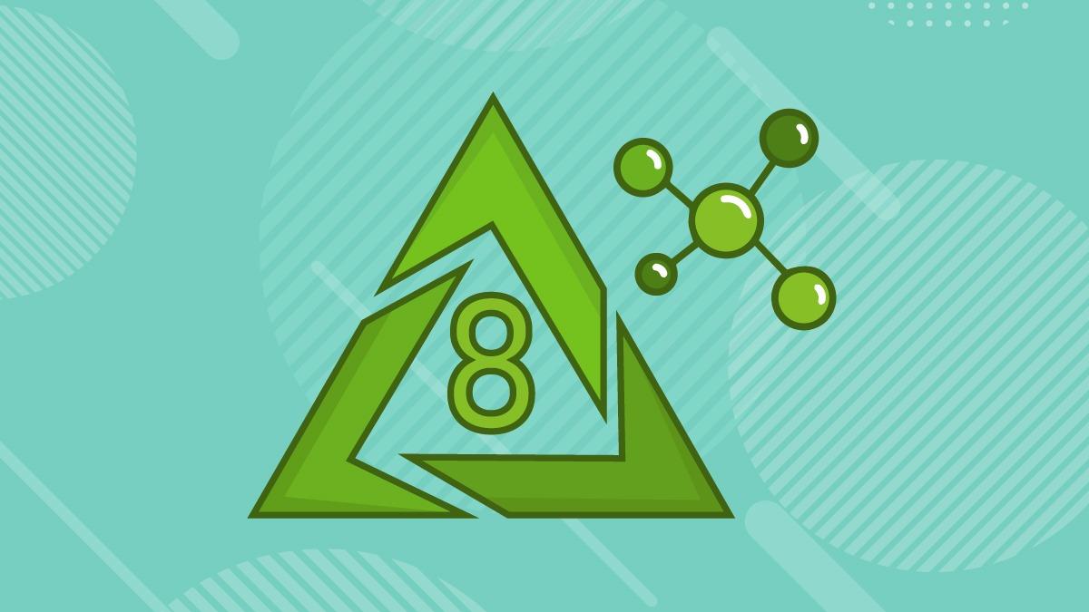 Illustration of delta 8 thc symbol